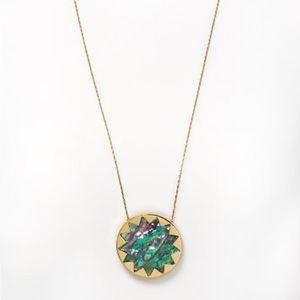 House of Harlow 1960 - Abalone Sunburst Necklace